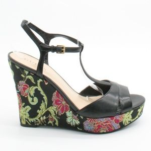 Guess Lavandi Floral Wedge Platform Sandals